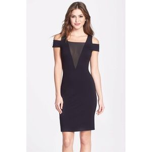Halston Heritage Cold Shoulder Ponte Dress
